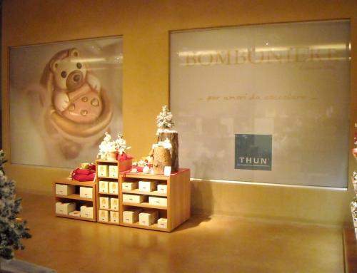 Decorazione vetrine interne Thun